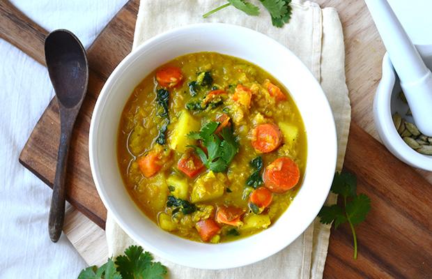 Lentil and Root Veggie Soup